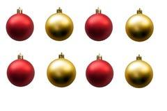 Rode en gouden Kerstmisbal stock afbeeldingen