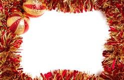 Rode en gouden Kerstmisdecoratie stock foto
