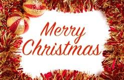 Rode en gouden Kerstmisdecoratie stock afbeeldingen