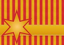 Rode en gouden strepen met een ster Royalty-vrije Stock Fotografie