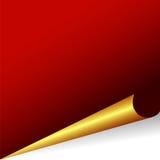 Rode en gouden vectorachtergrond Royalty-vrije Stock Fotografie