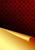 Rode en gouden vectorachtergrond Royalty-vrije Stock Foto