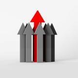 Rode en grijze Pijlen Royalty-vrije Stock Afbeelding