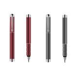 Rode en grijze zilveren pennen royalty-vrije illustratie