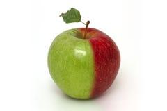Rode en Groene Appel Stock Foto