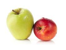Rode en groene appelen Stock Foto