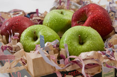 Rode en groene appelen Stock Afbeeldingen