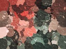 Rode en groene bellen abstracte achtergrond Stock Foto's