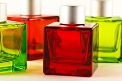 Rode en groene flessen Royalty-vrije Stock Foto