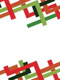 rode en groene in het nauw gedreven lijn, abstracte achtergrond Stock Afbeeldingen