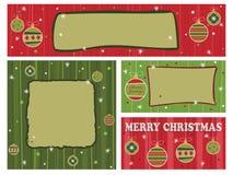 Rode en groene Kerstmisbanners Royalty-vrije Stock Foto's
