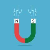 Rode en groene magneet Stock Illustratie