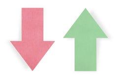 Rode en groene pijlen Stock Afbeelding
