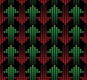 Rode en groene pijlen Stock Afbeeldingen