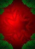 Rode en groene vakantiebol vector illustratie