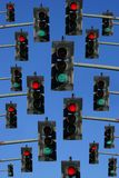 Rode en groene verkeerslichten Royalty-vrije Stock Foto