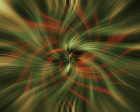 Rode en groene wervelingen Stock Afbeelding