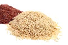 Rode en ongepelde rijst Stock Fotografie