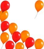 Rode en oranje ballons Stock Afbeelding