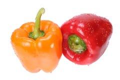 Rode en oranje peper Stock Afbeelding