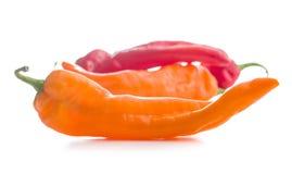 Rode en oranje pepergroente Royalty-vrije Stock Foto