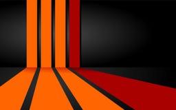 Rode en oranje strepenachtergrond Stock Illustratie