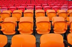 Rode en oranje zetel Royalty-vrije Stock Afbeelding