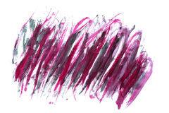 Rode en purpere abstracte waterverfvlek Royalty-vrije Stock Foto