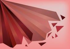 Rode en roze geometrische vernietigende achtergrond royalty-vrije stock afbeelding