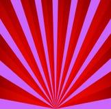 Rode en violette retro achtergrond Uitstekend stralenpatroon Stock Afbeeldingen