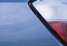 Rode en witte autolichten Stock Afbeeldingen
