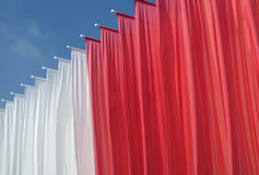 Rode en witte banners Royalty-vrije Stock Foto