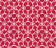 Rode en witte bloemen Japanse achtergrond Het vector naadloze patroon van Sakurabloemen, traditioneel Aziatisch ontwerp Stock Afbeeldingen