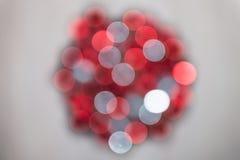 Rode en witte bokeh Stock Fotografie