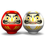 Rode en Witte Daruma-Doll Royalty-vrije Stock Afbeelding