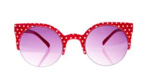 Rode en witte erwtenzonnebril Stock Foto