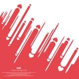 Rode en Witte Gelukkige Valentine-dag met contrastachtergrond vector illustratie