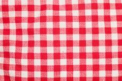 Rode en witte geruite lijst Royalty-vrije Stock Foto's