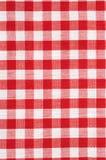 Rode en Witte Geruite Tafelkleedachtergrond Royalty-vrije Stock Afbeelding