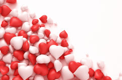 Rode en witte harten Royalty-vrije Stock Foto
