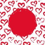 Rode en witte hartenkaart Royalty-vrije Stock Fotografie