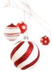 Rode en witte Kerstmis Stock Foto