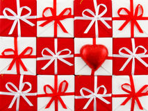 Rode en witte Kerstmis Royalty-vrije Stock Afbeeldingen