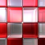 Rode en witte kubussen Royalty-vrije Stock Afbeelding