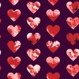 Rode en witte marmeren de textuurimitatie van harten abstracte grunge Royalty-vrije Stock Fotografie