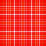 Rode en witte plaid Stock Afbeelding