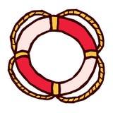 Rode en witte Reddingsboei gestileerde vector Stock Foto