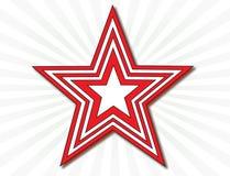 Rode en witte ster Stock Fotografie
