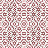 Rode en Witte Ster van David Repeat Pattern Background Royalty-vrije Stock Afbeeldingen
