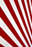 Rode en witte strepen Stock Foto